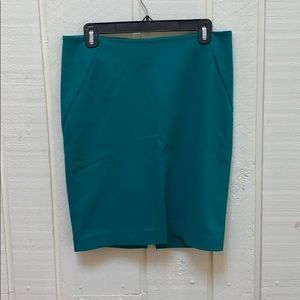 Emerald green INC. pencil Skirt